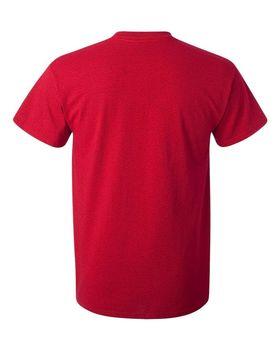 Футболка мужская однотонная (размер XL), плотность ткани 150-160 г/м2, цвет бордовый. Вид сзади. CottonOnline.ru