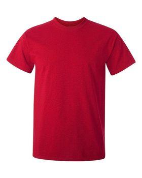 Футболка мужская однотонная (размер M), плотность ткани 150-160 г/м2, цвет бордовый. Вид спереди. CottonOnline.ru