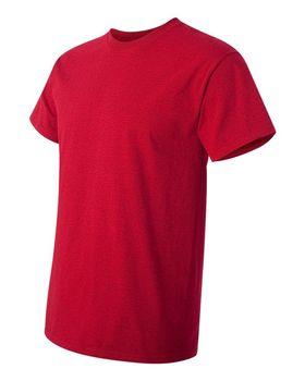 Футболка мужская однотонная 115-120 г/м2, бордовый цвет (L), вид сбоку. CottonOnline.ru