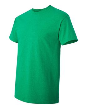 Футболка мужская однотонная (размер M), плотность ткани 150-160 г/м2, зеленый цвет. Вид сбоку. CottonOnline.ru