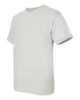 Футболка мужская однотонная 115-120 г/м2 (L), светло-серый цвет, вид сбоку. CottonOnline.ru