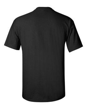 Футболка мужская однотонная 115-120 г/м2, черный цвет. Вид сзади. CottonOnline.ru