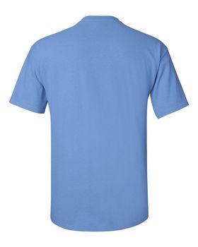Футболка мужская однотонная 115-120 г/м2, джинсовый цвет (XXL), вид сзади. CottonOnline.ru