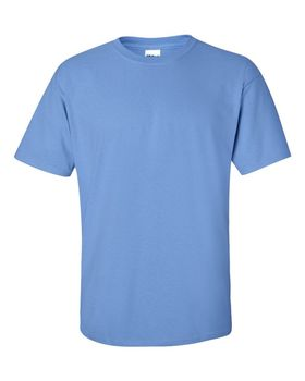 Футболка мужская однотонная 115-120 г/м2, джинсовый цвет (XXL), вид спереди. CottonOnline.ru
