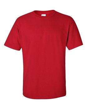 Футболка мужская однотонная 115-120 г/м2, красный цвет (M), вид спереди. CottonOnline.ru