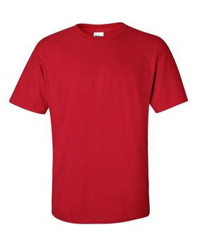 Футболка мужская однотонная 115-120 г/м2, красный цвет (XL), вид спереди. CottonOnline.ru