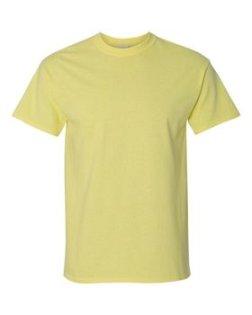 Футболка мужская однотонная (размер M), плотность ткани 150-160 г/м2, цвет желтый. Вид спереди. CottonOnline.ru
