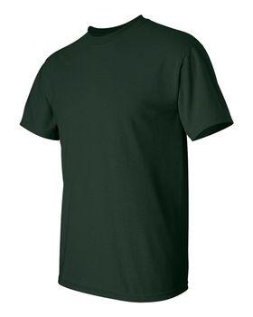 Футболка мужская однотонная (размер S), плотность ткани 150-160 г/м2, темно-зеленый цвет. Вид сбоку. CottonOnline.ru