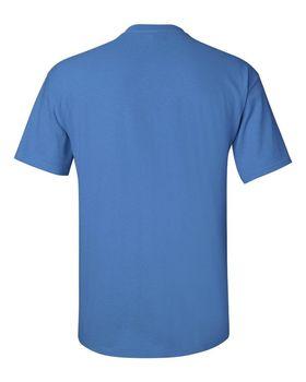 Футболка мужская однотонная 115-120 г/м2, голубой цвет (L), вид сзади. CottonOnline.ru