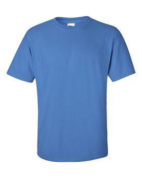 Футболка мужская однотонная 115-120 г/м2, голубой цвет (L), вид спереди. CottonOnline.ru