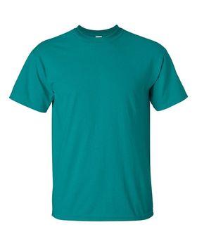 Футболка мужская однотонная 115-120 г/м2, бирюзовый цвет (L), вид спереди. CottonOnline.ru