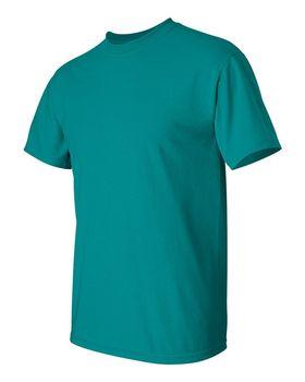 Футболка мужская однотонная 115-120 г/м2, бирюзовый цвет (L), вид сбоку. CottonOnline.ru