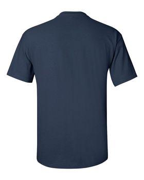 Футболка мужская однотонная (размер S), плотность ткани 150-160 г/м2, цвет индиго. Вид сзади. CottonOnline.ru