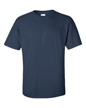 Футболка мужская однотонная (размер M), плотность ткани 150-160 г/м2, цвет индиго. Вид спереди. CottonOnline.ru