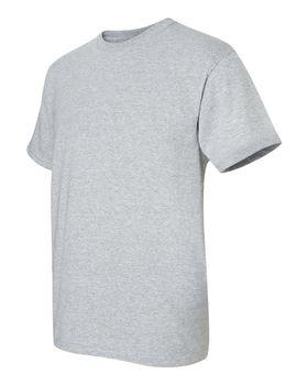 Футболка мужская однотонная 115-120 г/м2 (L), серый цвет, вид сбоку. CottonOnline.ru