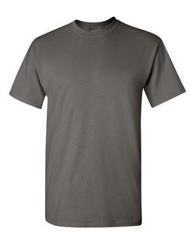 Футболка мужская однотонная (размер S), плотность ткани 150-160 г/м2, темно-серый цвет. Вид спереди. CottonOnline.ru