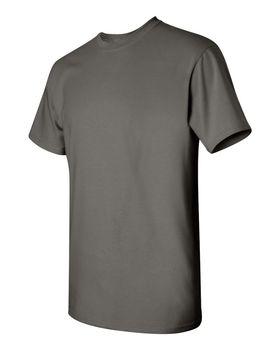 Футболка мужская однотонная (размер М), плотность ткани 150-160 г/м2, темно-серый цвет. Вид сбоку. CottonOnline.ru